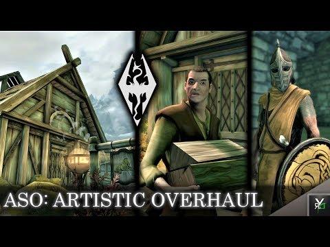 ASO: Oil Version- Artistic Skyrim Overhaul- Xbox Modded Skyrim Mod Showcase