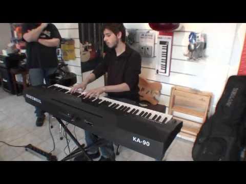 Kurzweil KA 90 Demo with Mattebas @ FM Music, Turin