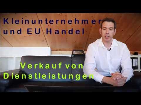 Kleinunternehmer und EU - Verkauf von Dienstleistungen