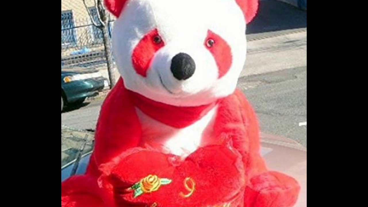 American Made Giant Stuffed Red Panda Bear 32 Inch Soft With I Love