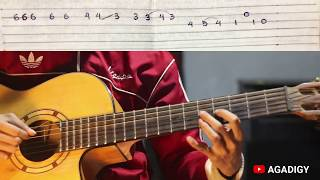 Melody Tamally Maak - Acoustic Guitar (With Tab & Chord) | تملى معاك