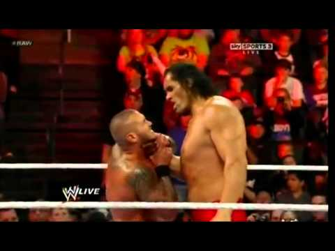Randy Orton RKO's Great Khali - ار كي او على كالي