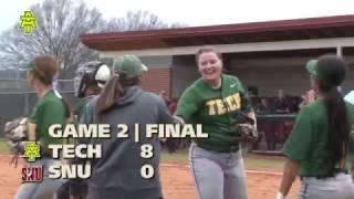 Tech Softball vs. Southern Nazarene Highlights (DH) - 3/17/17