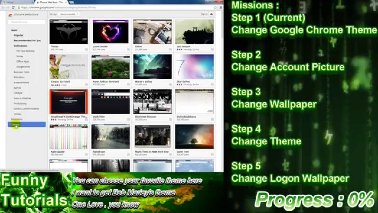 Google themes weed - Funny Tutorials Presents Windows 7 Customization Step By Step Guide Weed Style