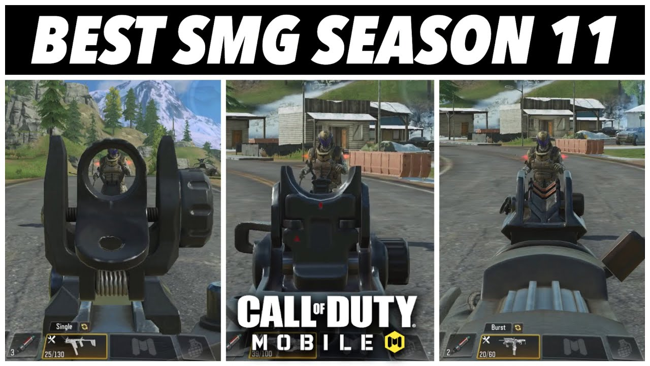 BEST SMG IN NEW SEASON 11 OF CALL OF DUTY MOBILE BATTLEROYALE | TIPS & TRICKS