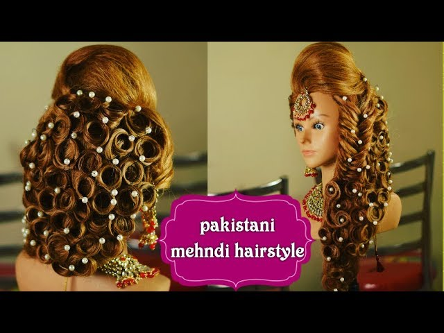 Front Side Puff In Engagement Hairstyle Easy Hairdo Best Mehndi