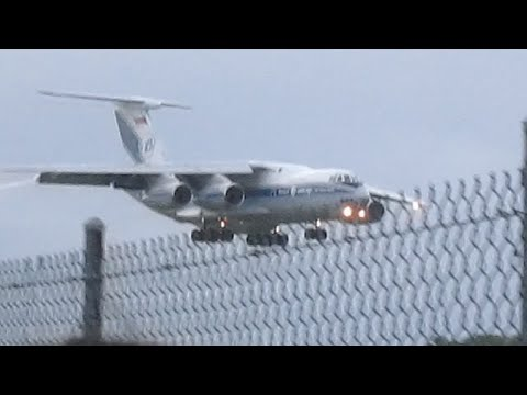 Ilyushin Il-76TD Super Heavy Transport Arriving Barbados HD