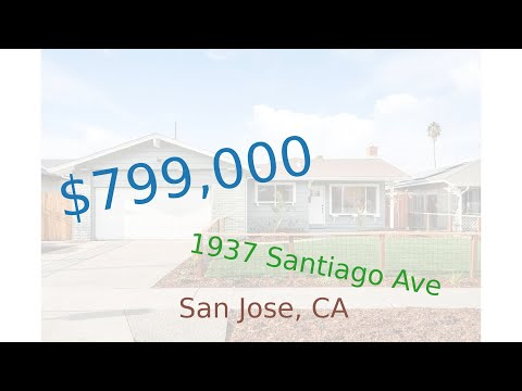 $799,000 San Jose home for sale on 2020-12-04 (1937 Santiago Ave, CA, 95122)