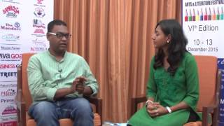 In conversation with Hansda Sowvendra Shekhar at Goa Arts and Literature Festival 2015