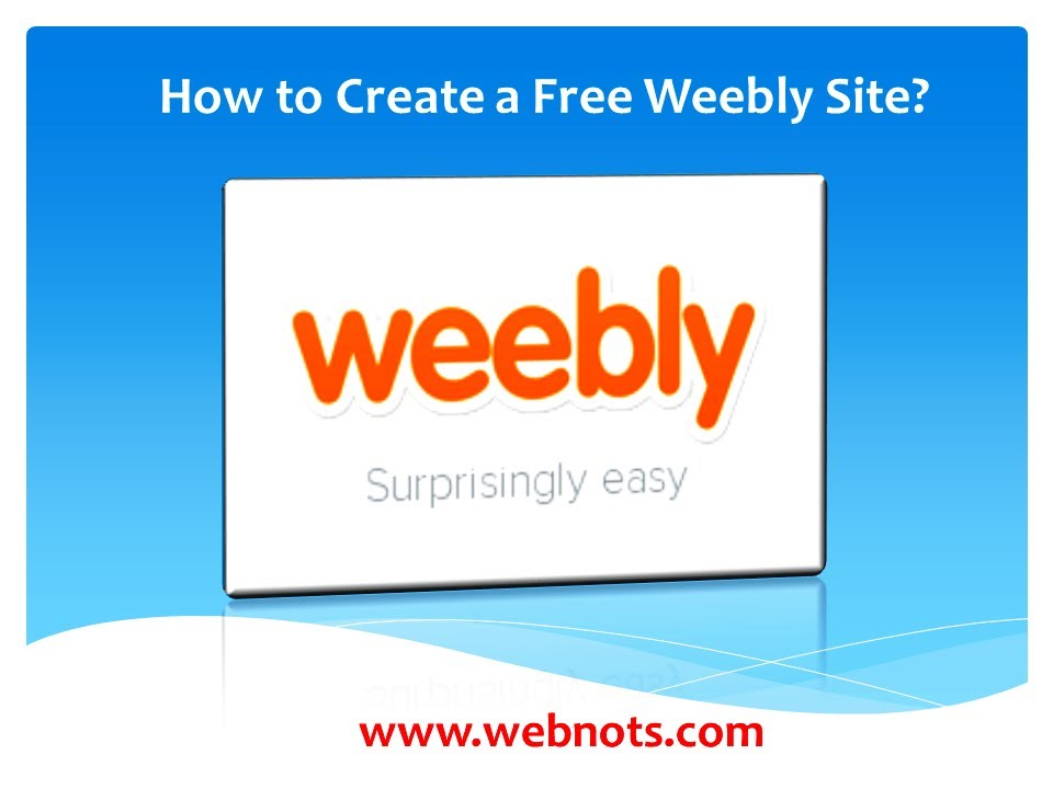 How To Create A Free Weebly Site Youtube