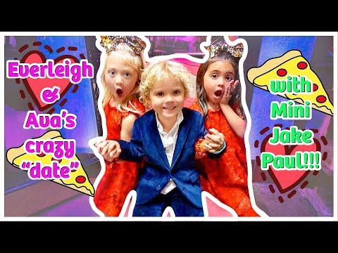 Everleigh and Ava's first DOUBLE DATE with MINI JAKE PAUL!
