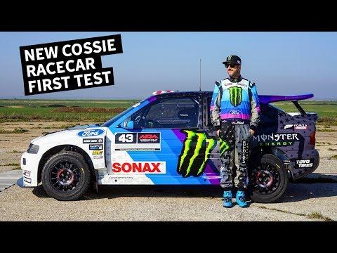 Ken Block Drives His New Ford Escort Cossie Racecar!