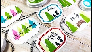 Handmade Holiday Gift Tags with Stamping Techniques