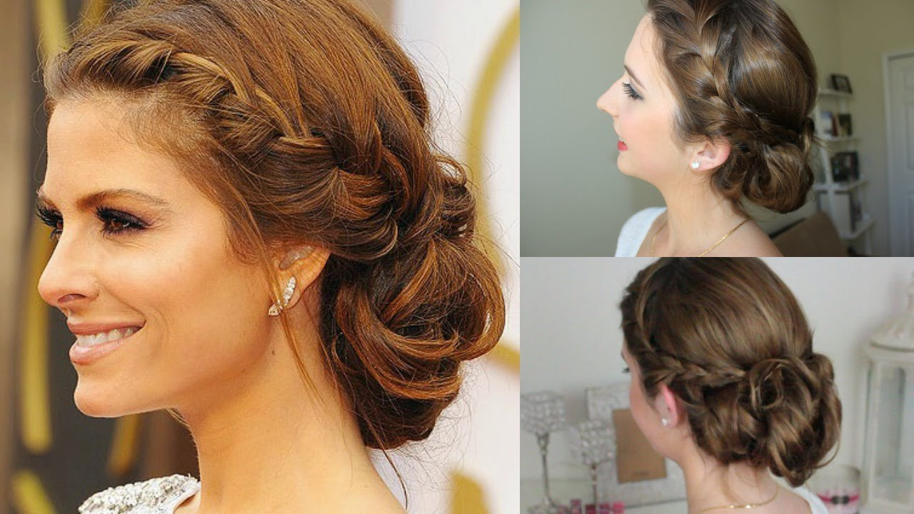 Quick Easy Braided Messy Updo Maria Menounos Oscars Inspired
