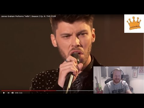 James Graham sings Hello - | TheFour | PW Reaction | OMG Epic