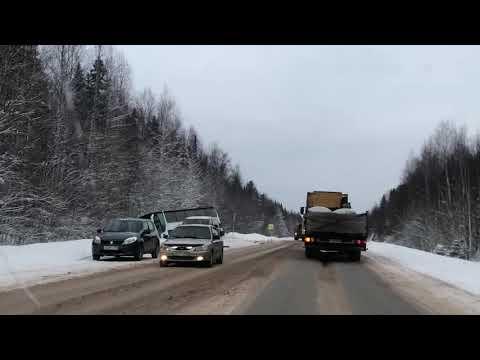 Авария с автобусом. Пермский край, район Добрянки.