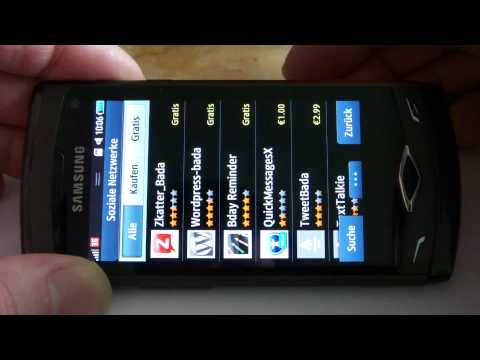 Samsung GT-S8500 Wave - Firmware Update XXJL2 mit Bada 1.2 - Video Version vom 18.01.2011
