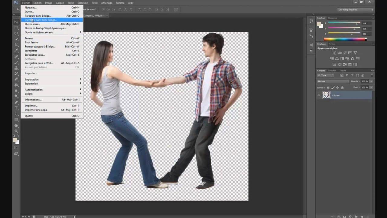 Mettre Le Fond D Une Image En Transparence Avec Photoshop Youtube
