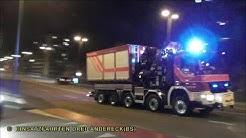 [5-ACHSIGES SPEZIALFAHRZEUG]PiW 42+AB-Kran & TRW 63 mit Licht-Anhänger BF & RTW Sanität Basel-Stadt