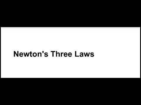 Newton's Three Laws Science Project