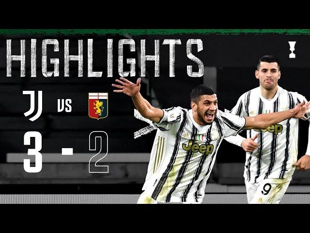 Juventus 3-2 Genoa | Rafia Scores Debut Winner! | Coppa Italia Highlights