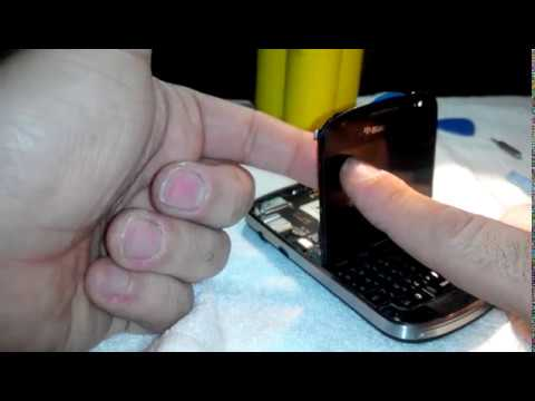 Blackberry bold 9900 LCD screen backlight problem - YouTube