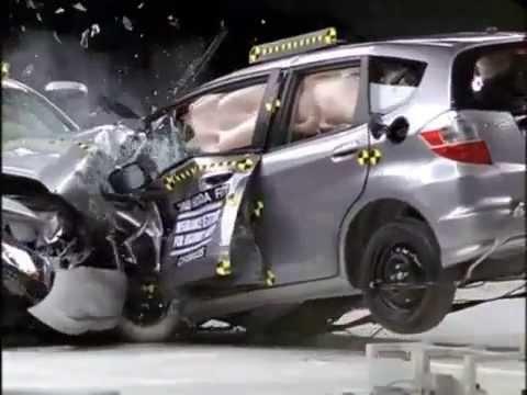 Iihs Crash Test Compatibility Fail Honda Accord Vs Honda Jazz