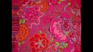 Pink/Red Kaffe Fassett Fabric Sampler Quilt