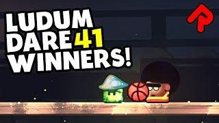 LUDUM DARE 41 WINNERS (Compo): Dunk Em Up, Crescendo, Element Crush, Dungeon Scrawl, Heck Deck