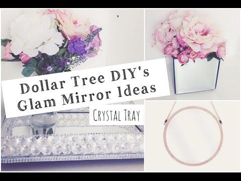 DOLLAR TREE DIY GLAM MIRROR IDEAS | Momma from scratch