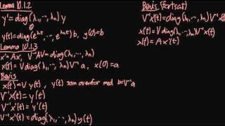 Lineær algebra: Lineære differentialligninger