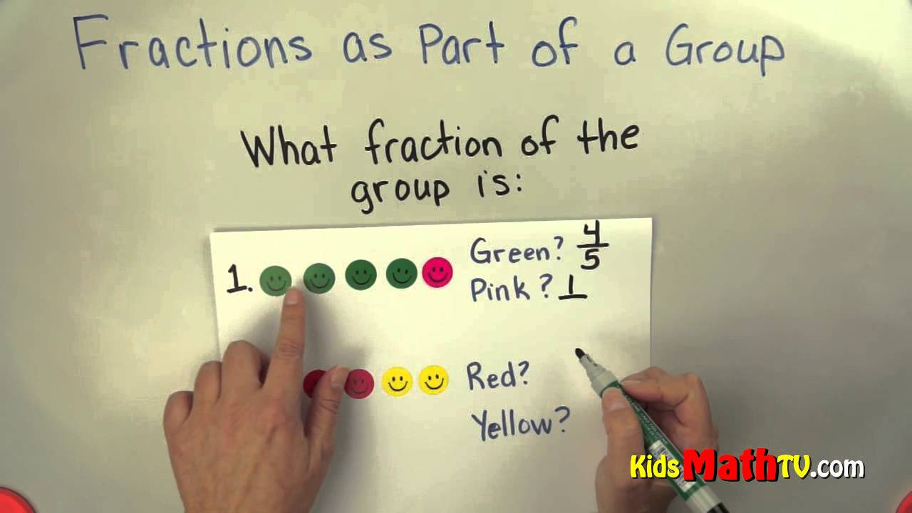 math worksheet : learn about fractions as part of a group math video tutorial for  : Fractional Parts Of A Set Worksheet