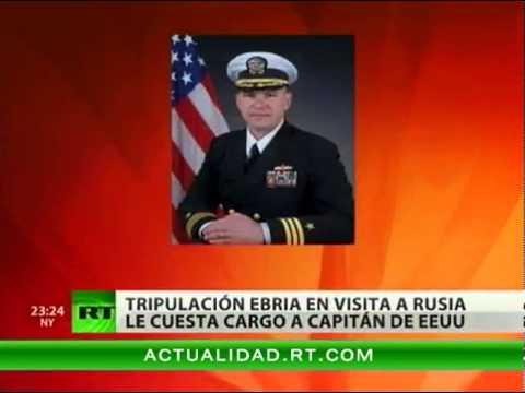 El Capitán De Un Barco De EE.UU. Pierde Su Cargo Por La Borrachera De Sus Marineros En Rusia