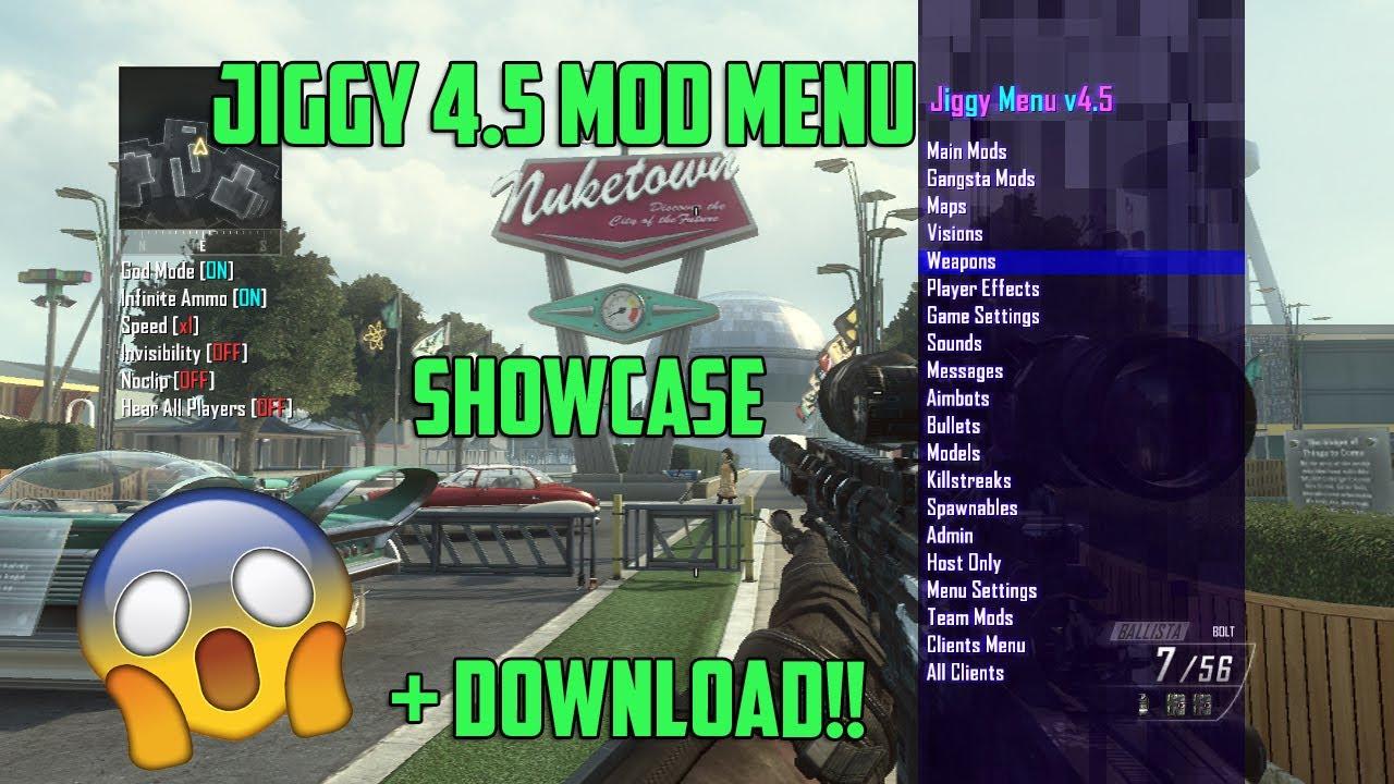 BO2 Jiggy 4 5 Mod Menu Showcase + DOWNLOAD!!