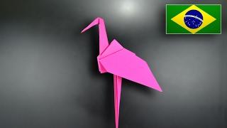 Origami: Flamingo - Instruções em Português BR