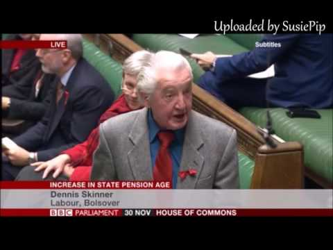 Dennis Skinner 30.11.2016 speaking during a debate about the WASPI Women