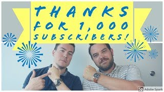 Here's to Reaching 1,000 Subscribers! Thank You!
