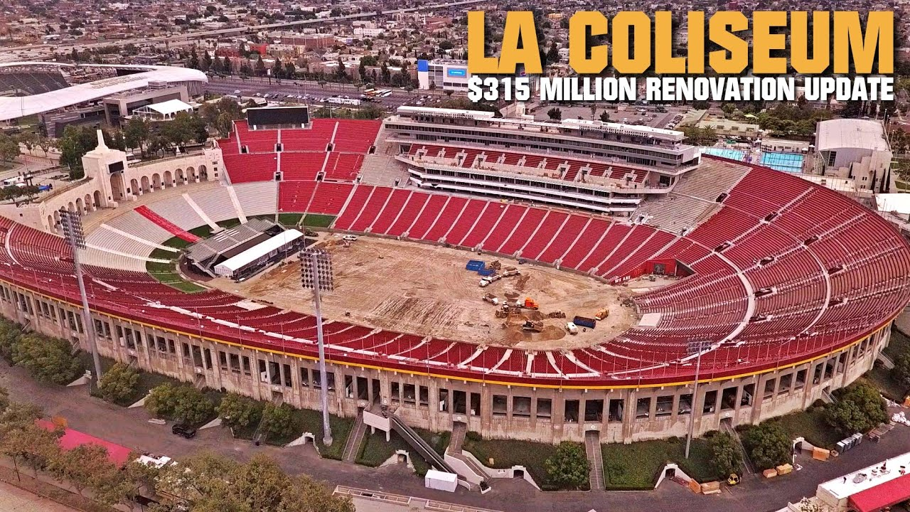 Usc S La Coliseum Demolition Renovation Aerial Update 6 24 19 Youtube