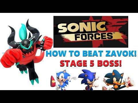 SONIC FORCES! (How To Defeat Zavok!) Death Egg Boss Stage 5