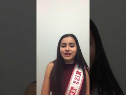 Arianna Laya- Garcia, Miss Teen Canada Globe 2016/17- Live (Part 2)