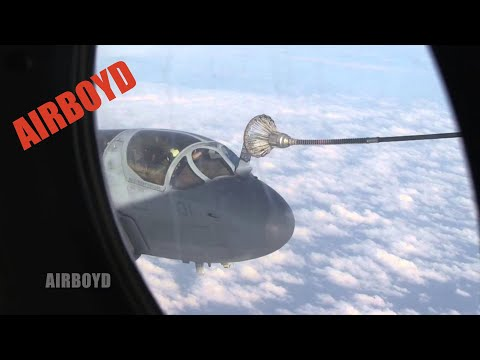 Prowler And Harrier Aerial Refueling