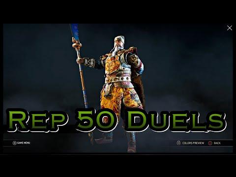 For Honor - Number 1 Ranked Jiang Jun! Rep 50 Jiang Jun Duels!