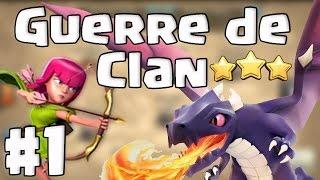 Guerre de Clan #1 - Contre un clan chinois - Clash Of Clans