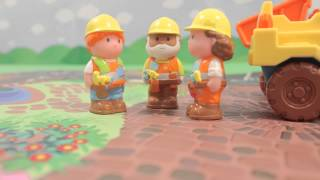 happyland construction Mothercare loves the elc happyland construction set little ones can help the workers fix the roads, by using the digger and the dump truck with three const.