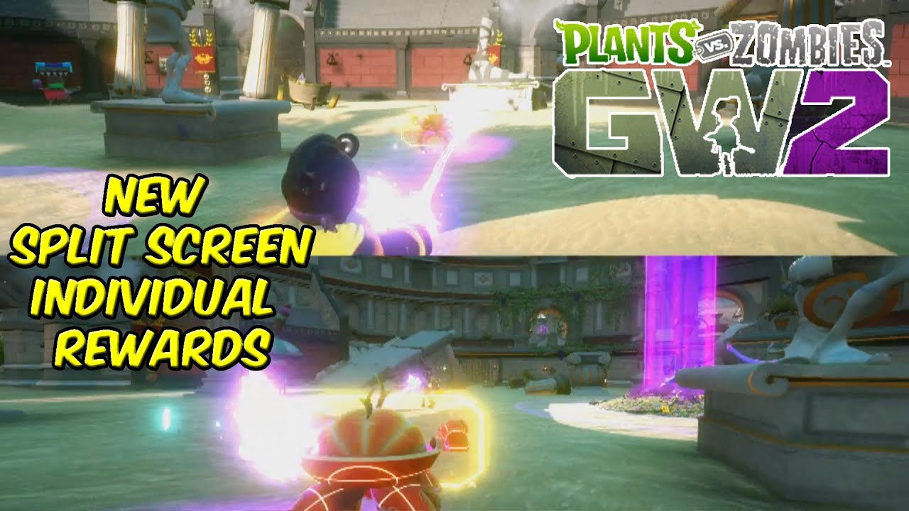 Plants Vs Zombies Garden Warfare 2 New Split Screen Individual Rewards Youtube