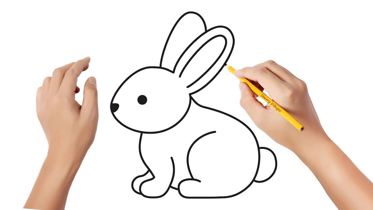 Cómo Dibujar Un Conejito De Pascua Dibujos Sencillos Youtube