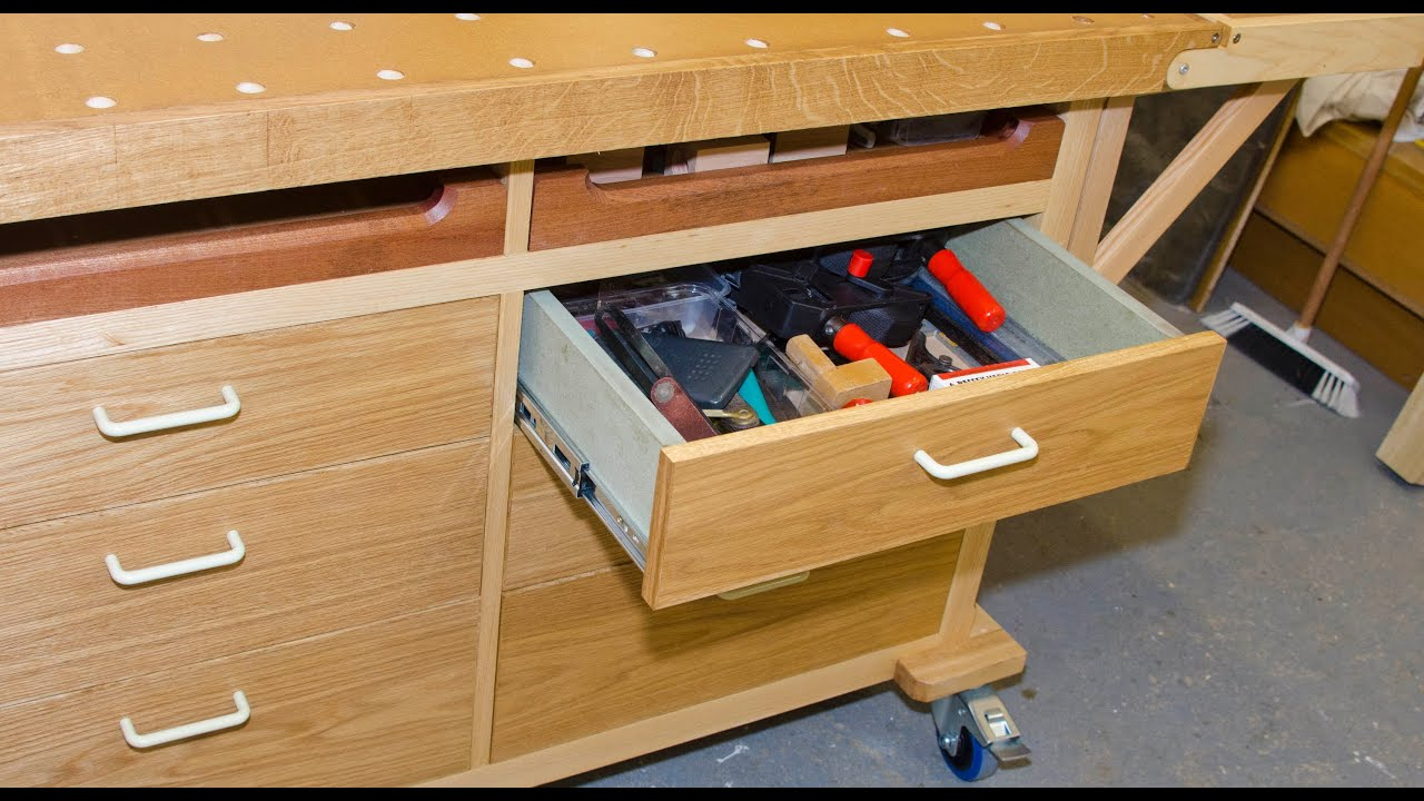 Cabinets For Workshop Mobile Bench Project How To Make Simple Drawers Part 1 Youtube