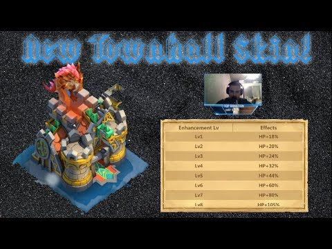 New Town Hall Skin | Looks And Stats | Technically A 5th Dragon Castle Clash