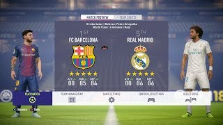 vuclip FIFA 18 - FC Barcelona Vs Real Madrid FULL GAMEPLAY - 1080P/PS4