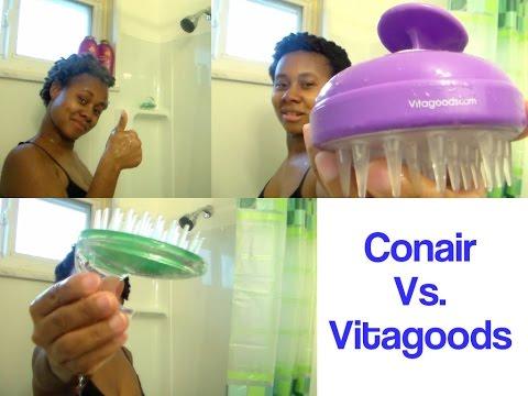 Conair Vs Vitagoods Shampoo Massaging Brush
